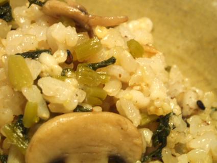 大根葉っぱとキノコの炊き込みご飯02