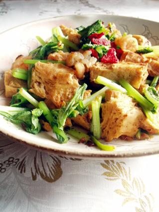変わり豆腐のオイスター炒め01
