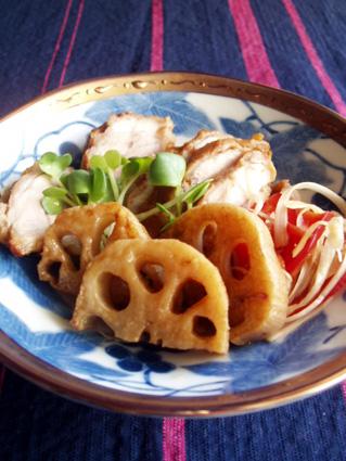 鶏肉と蓮根のサッパリ甘酢漬け01