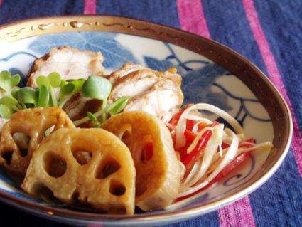 鶏肉と蓮根のサッパリ甘酢漬け02