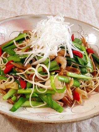 金針菜の素麺チャンプルー01