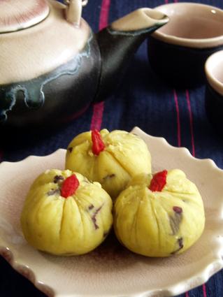 さつま芋の茶巾絞り01