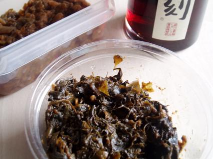 小松菜と唐辛子葉っぱのおひたし02