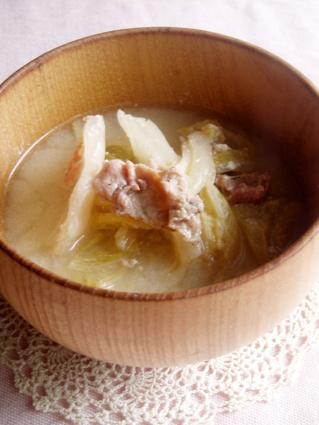 白菜のとろとろ豆乳煮01