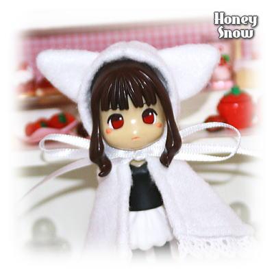1/12DOLL 【アニマルケープ】 ネコ耳ケープ☆ホワイト