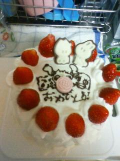 2011.04.04 谷口への誕生日ケーキ