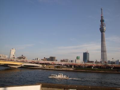 浅草から東京スカイツリー・桜橋・隅田公園