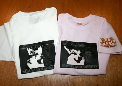 2009-0730オリジナルTシャツ白とピンク