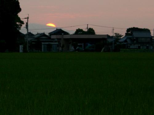 夕日が沈むとき