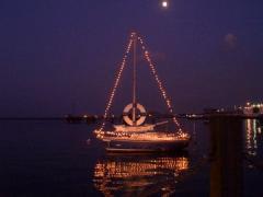夜景ヨット
