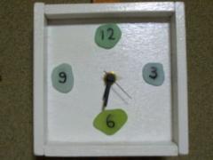 海ガラスの時計001