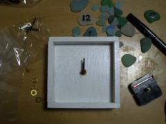 海ガラスの時計003