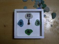 海ガラスの時計004