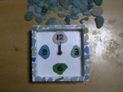 海ガラスの時計005