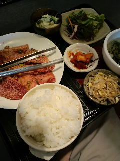 焼肉の牛太(潮来店) たっぷり上カルビ定食 写真