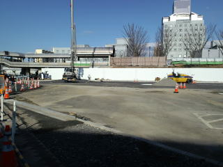 つくばセンター バスターミナル 改修工事中