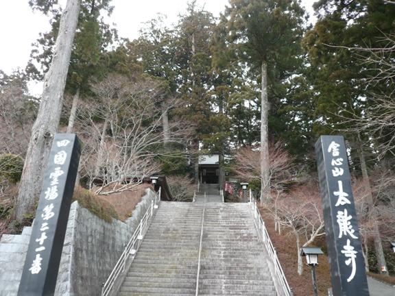 山頂駅前から、太龍寺を望む