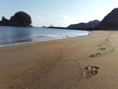大浜海岸足跡