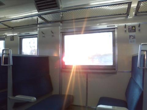 0124車内朝陽