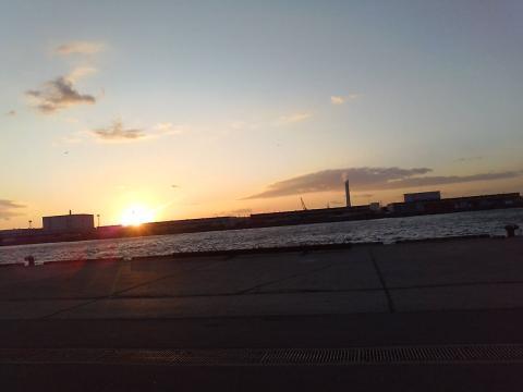 100106大阪南港夕陽