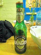 名前がドイツっぽいビール-。味はほんのり甘くてフルーティ。
