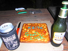 俺の名前入りケーキ!スゲー嬉しい、感動して心が震えた。