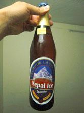 Nepal Iceていう銘柄、もちろんネパール製!厚着して冷たいビール!