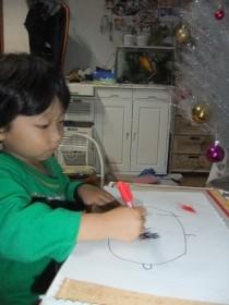 金魚 お絵描き