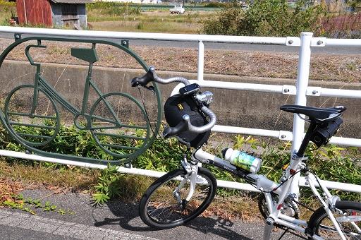 自転車をデザインした柵だ