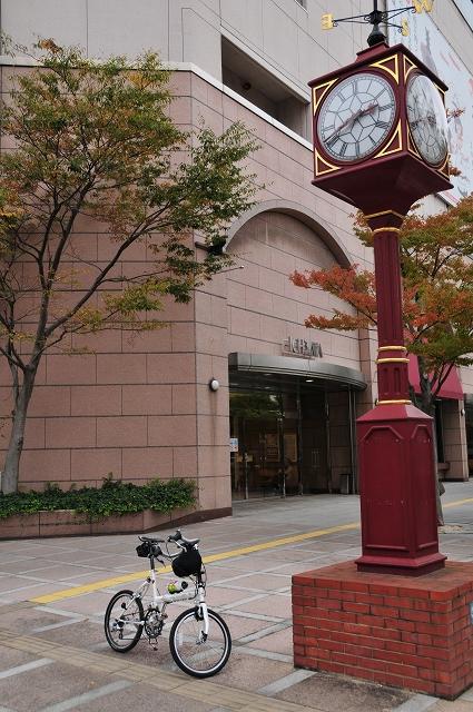 松江駅前に到着