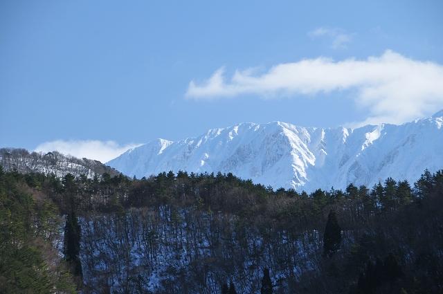 冠雪した北壁