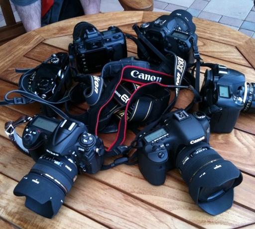 集まったカメラ達