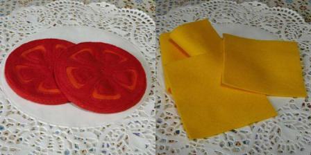 ハンバーガーセット トマト&チーズ