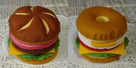 ハンバーガーセット バンズ カイザー&ベーグル