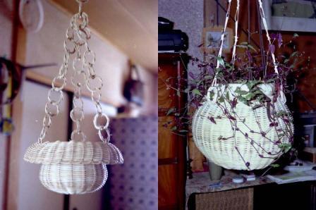 籐手芸 鉢カバー 2