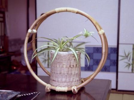 籐手芸 鉢カバー 8 (フラワーハンガー)