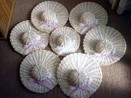 籐手芸 帽子の壁飾り 3