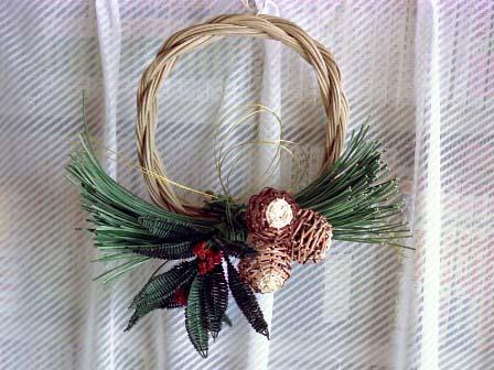 籐手芸 お正月用輪飾り