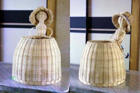 籐手芸 花かご人形