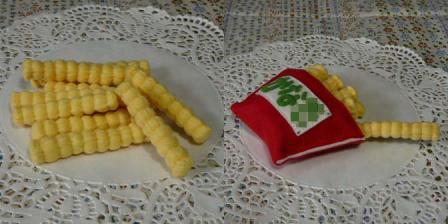 ハンバーガーセット クリンクルポテト