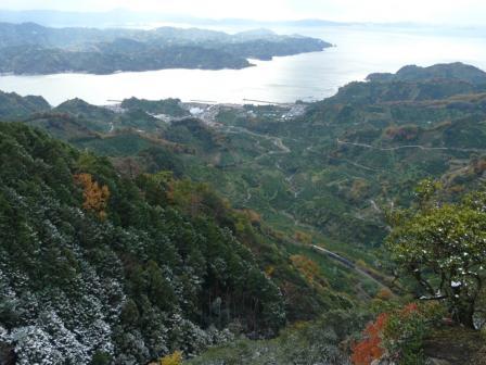 法華津峠からの風景 (特急宇和海・2000系)