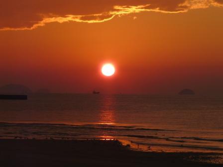 2008.12.16 立岩海岸の夕日 2