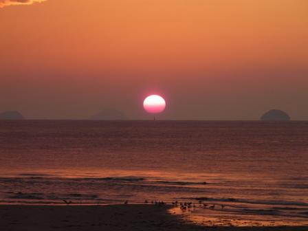 2008.12.16 立岩海岸の夕日 3
