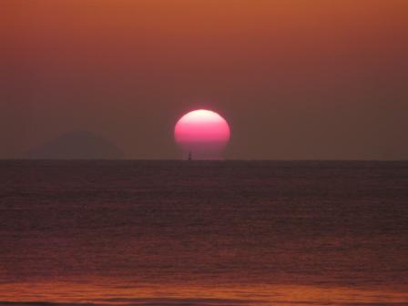 2008.12.16 立岩海岸の夕日 4