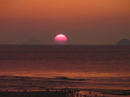 2008.12.16 立岩海岸の夕日 5