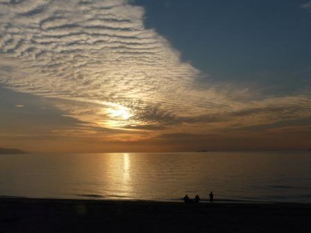 2008.12.28 塩屋海岸の夕景 1