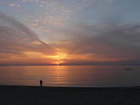 2008.12.28 塩屋海岸の夕景 4