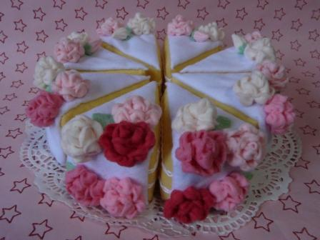 フェルト - ウェディングケーキ 1