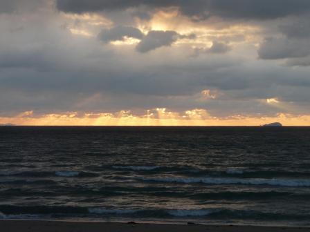 2009.1.13 塩屋海岸の夕景 1