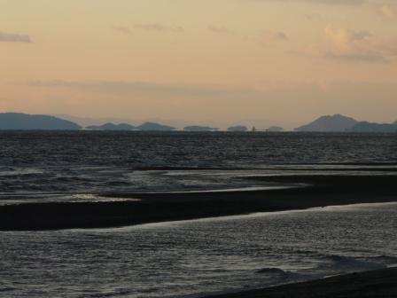 2009.1.13 塩屋海岸の夕景 3